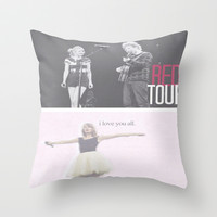 Red Concert Throw Pillow by hayimfabulous | Society6