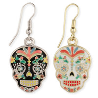 Enamel Calavera Earrings