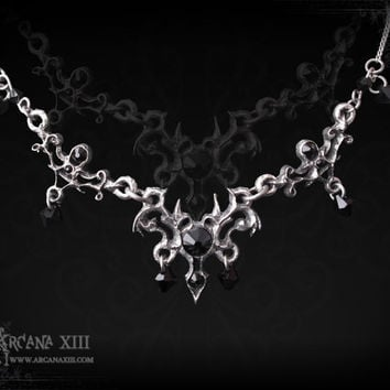 gothic necklace with swarowski, the coasis baroness