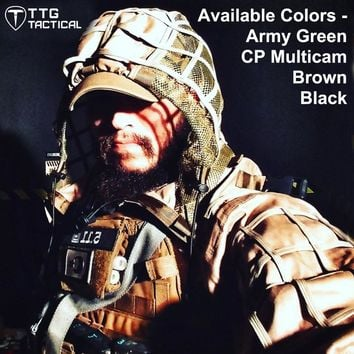 Tactical Viper Hood Tactical Sniper Ghillie Suit Lightweight Airsoft Paintball Ghillie Jacket 4 Colors CP Multicam Army Green