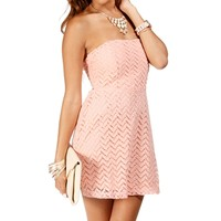 SALE-Blush Strapless Short Dress