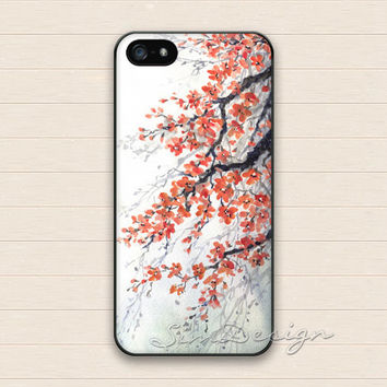Floral branches iPhone 5 Case,iPhone 5s Case,iPhone 4 4s Case,Samsung Galaxy S3 S4 Case, Vintage Flower Hard Plastic Rubber Cover Skin Case