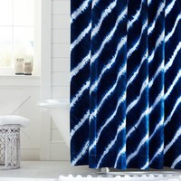 Tie Dye Shower Curtain, Royal Navy