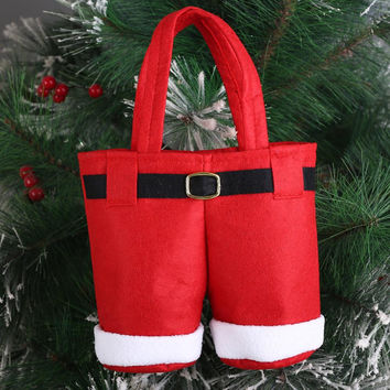 Christmas Tree Santa Pants Gift And Treat Candy Bags For Xmas Wedding Christmas Home Decoration Supplies -OG