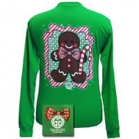 Gingerbread Man Irish Green Long Sleeve [GS-GB0200] - $20.99 : Girlie Girl™ Originals - Great T-Shirts for Girlie Girls!