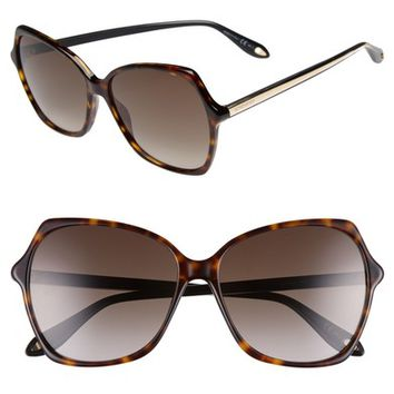 Givenchy 59mm Butterfly Sunglasses | Nordstrom