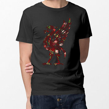 Liverpool FC Inspired Floral Unisex T-Shirt, Funny Gifts