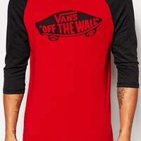 Vans Off The Wall Raglan Long Sleeve T-Shirt