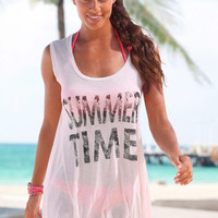 Bohemia Beach T-shirts Alphabet Print Summer Sea Women's Fashion Bottoming Shirt [7767259399]