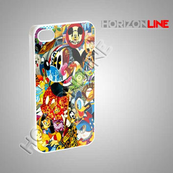 Disney Character Cartoon - iPhone 4/4s/5 Case - Samsung Galaxy S3/S4 Case - Black or White