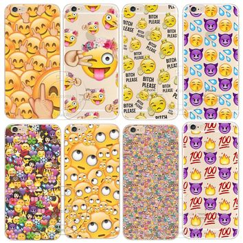 Shell For Apple iPhone 8 X 5 5S SE 5C 6 6S 7 Plus Back Case Cover Funny Monkey Emoji New Design Hard Plastic Cell Phone Cases