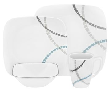 Corelle Mosaic Bands 16pc Dinner Set