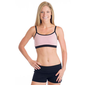 Strength Reversible Sports Bra - Black and Pink