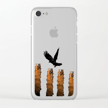 Crow Prey Clear iPhone Case by ES Creative Designs