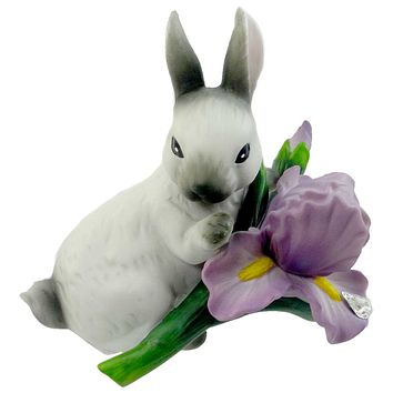 Easter Bunny With Iris Easter & Spring Figurine