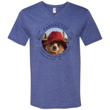 Paddington movie t-shirt 982 Anvil Men's Printed V-Neck T-Shirt