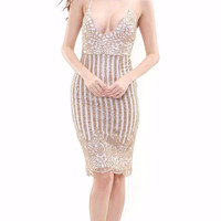 Norah Sequin Midi Dress