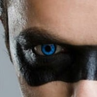 Fine & Clear Blue Star Coloured Contacts