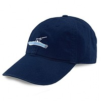 Power Boat Needlepoint Hat in Navy by Smathers & Branson