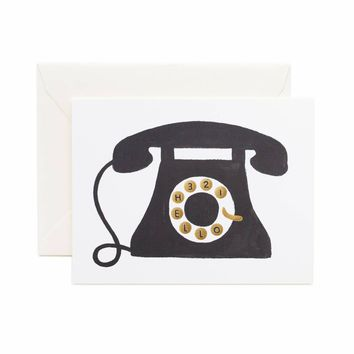 Hello! Telephone Greeting Card by RIFLE PAPER Co.   Made in USA