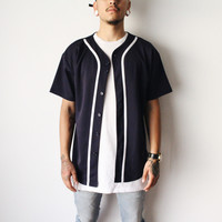 Jack Baseball Jersey ( Navy Blue)