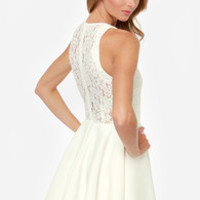 Keepsake Almost Over Ivory Lace Dress