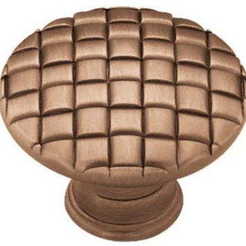 """Liberty PN0416-RAL-C Basket Weave Cabinet Knob, 1-1/8"""", Red Antique Low Sheen"""
