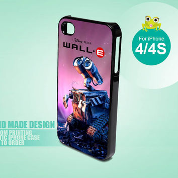 10334 Disney Wall E Robot - iPhone 4 / 4s Black Case