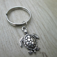 Sea Turtle Keychain, Nature Keychain, Party Favors, Wedding Favors
