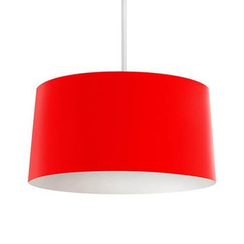Solid Red Pendant Lamp