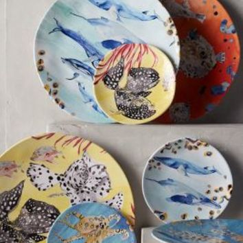 Under The Sea Melamine Dinner Plate by Voutsa