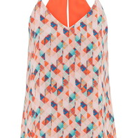 Reversible Patterned Chiffon Tank - Multi