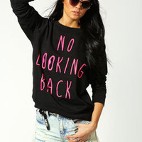 Joanne No Looking Back Print Sweat