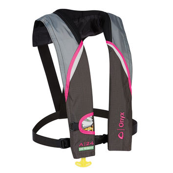 Onyx A-24 In-Sight Automatic Inflatable Life Jacket Pink/Grey 13320010500415 133