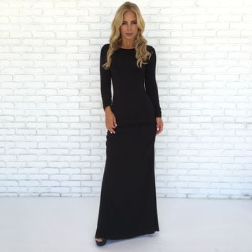 Sparrow Maxi Dress in Black By SKY