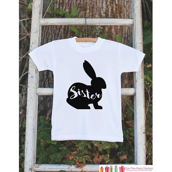Girls Easter Outfit - Sister Bunny Onepiece or Tshirt - Kids Easter Bunny Outfit - Sibling Easter Outfits - Girls Baby Toddler Youth Shirt