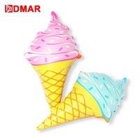 DMAR 92cm Inflatable Ice Cream Pool Float Water Toy Swimming Ring Mattress Sea Beach Party Prop Kid Adult Flamingo Unicorn Donu