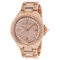 Women's Rose Gold Michael Kors Camille Glitz Watch MK5862