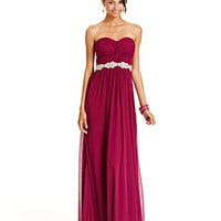 City Studios Juniors Dress, Strapless Rhinestone Gown - Juniors Homecoming Dresses - Macy's
