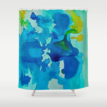 Topography Shower Curtain by DuckyB (Brandi)