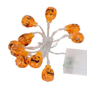 Pumpkin String Lights Outdoor Holiday Decoration Party
