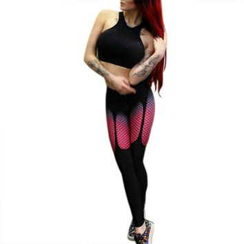 Women Slim Sports Pants Tight Yoga Leggings Fitness Running Yoga Exercise Gym Pants Outdoor Excercise Elastic Trousers