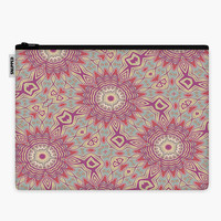 Mandala Tribal Starburst Zipper Accessories Pouch | Snupped