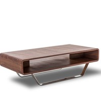 Modrest Avis - Modern Walnut Matte Coffee Table