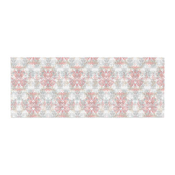 "Carolyn Greifeld ""Damask Splatter"" Pink Gray Bed Runner"