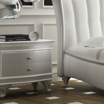 Lacquered wooden bedside table with drawers VELVET Lumiere Collection by Formenti