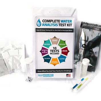 Drinking Water Test Kit - 10 Minute Testing For Lead Bacteria Pesticide Iron Copper and More