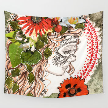 Of the Forest Wall Tapestry by Jenndalyn