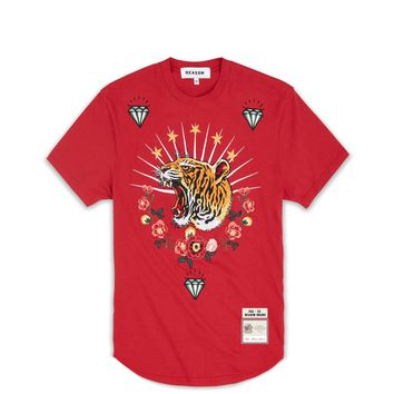TIGER WREATH TEE - RED