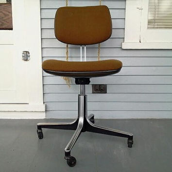 SALE, Sophisticated Copper/Brown Retro, Vintage, Mid Century Modern, Office Chair